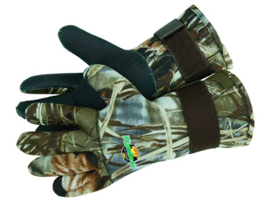 Flambeau Neoprene Wrist Gloves Realtree Max-4 Camo
