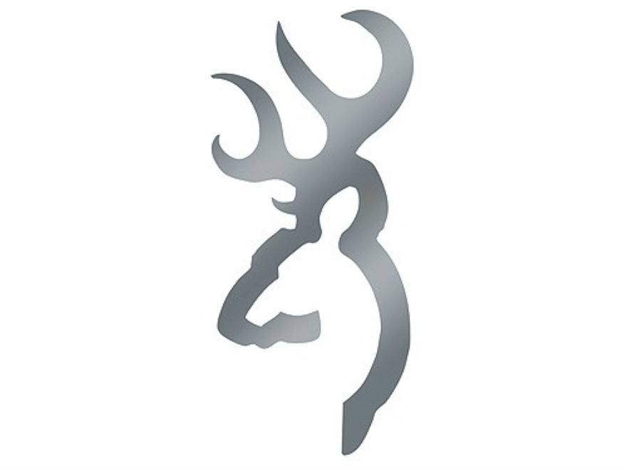 """Browning Buck Mark Decal 4"""" Silver"""