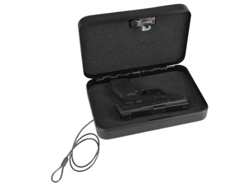 "Bulldog Personal Safe Security Box 9.5"" x 6.5"" x 2"" Steel Black"