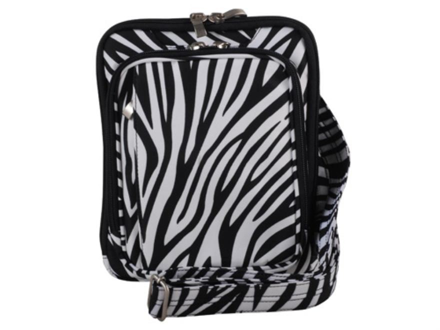 Gun Tote'N Mamas Raven Cross Body Handbag Microfiber Zebra-Striped