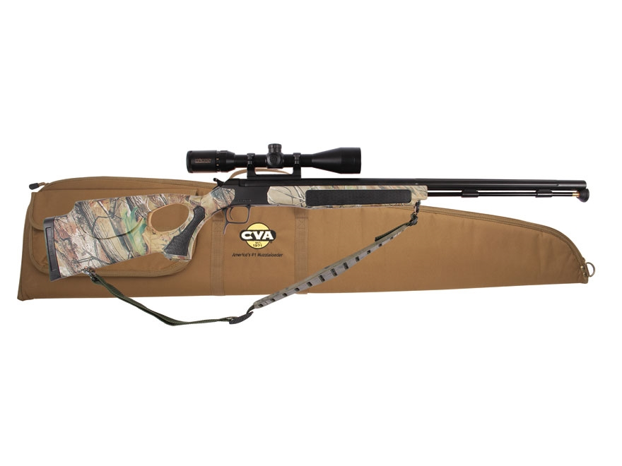 "CVA Accura V2 Muzzleloading Rifle with KonusPro 3-10x 44mm Scope 50 Calliber 27"" Nitrid..."