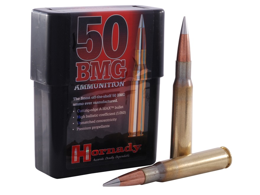 Hornady Match Ammunition 50 BMG 750 Grain A-MAX Boat Tail Box of 10