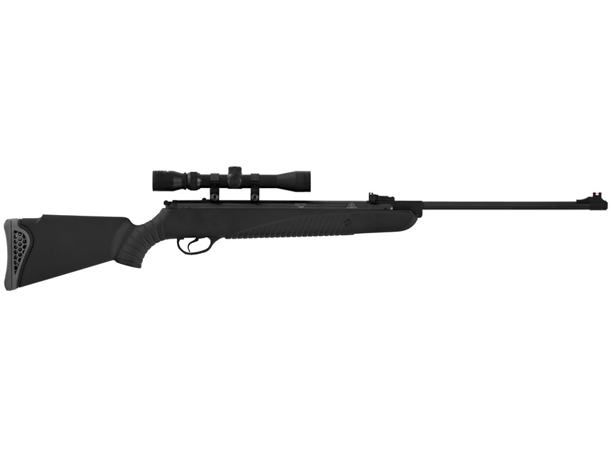 Hatsan Model 85 Combo Break Action Air Rifle Pellet Synthetic Stock Black Barrel with 3...