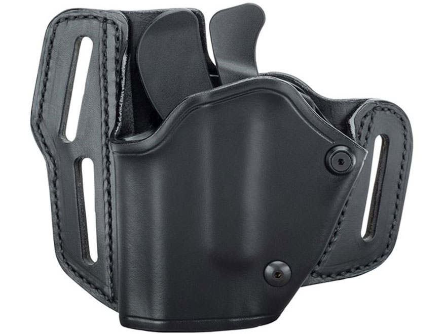 BLACKHAWK! GripBreak Belt Holster Glock 17, 19, 22, 23, 26, 27 Leather Black
