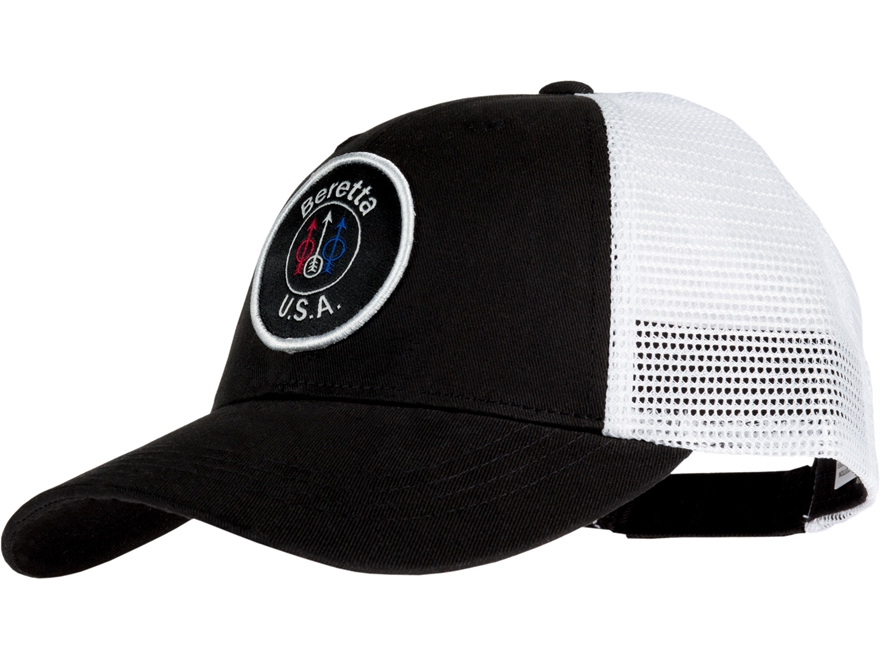 Beretta Men's USA Trucker Mesh Back Logo Cap Cotton/Polyester
