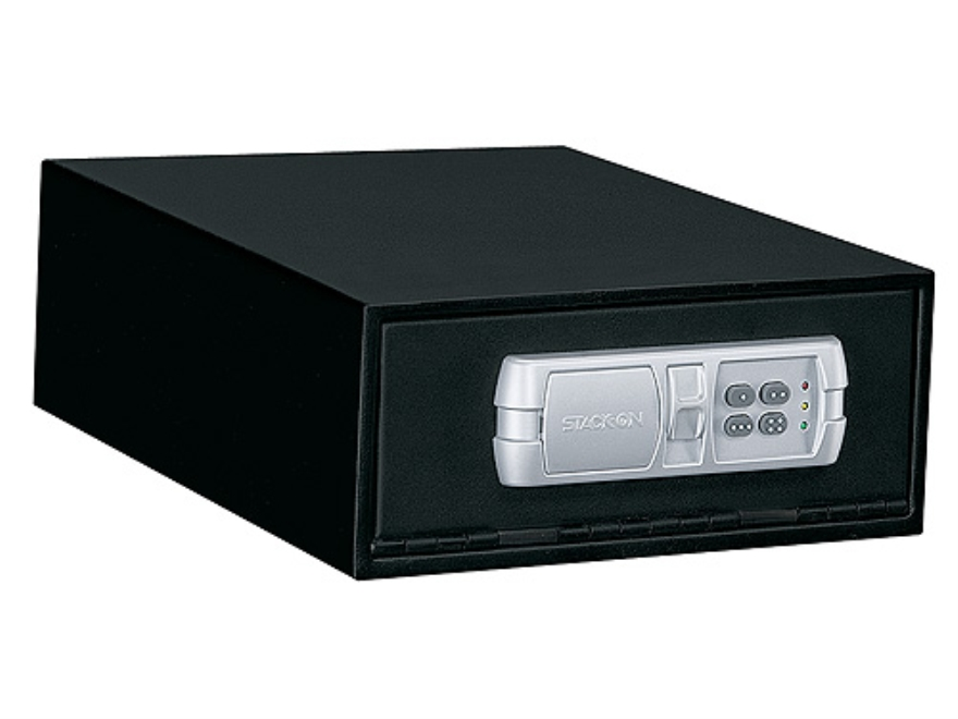 Stack-On Low Profile Quick Access Safe with Electronic Lock Black