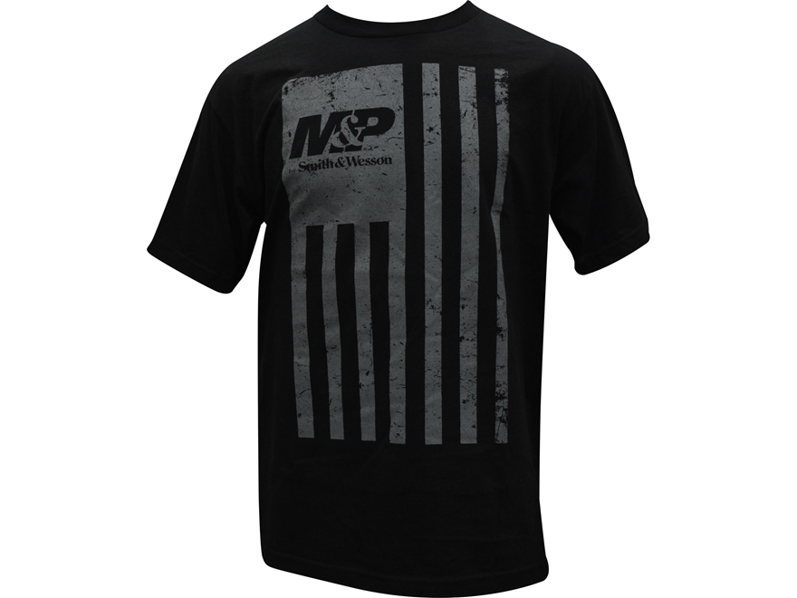 Smith & Wesson Men's M&P Distressed Flag T-Shirt Short Sleeve Cotton