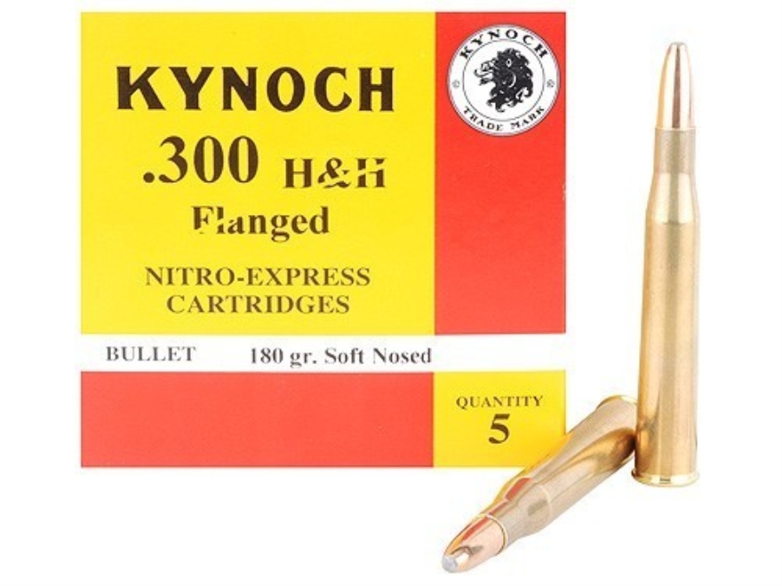 Kynoch Ammunition 300 Flanged Magnum 180 Grain Woodleigh Welded Core Soft Point Box of 5