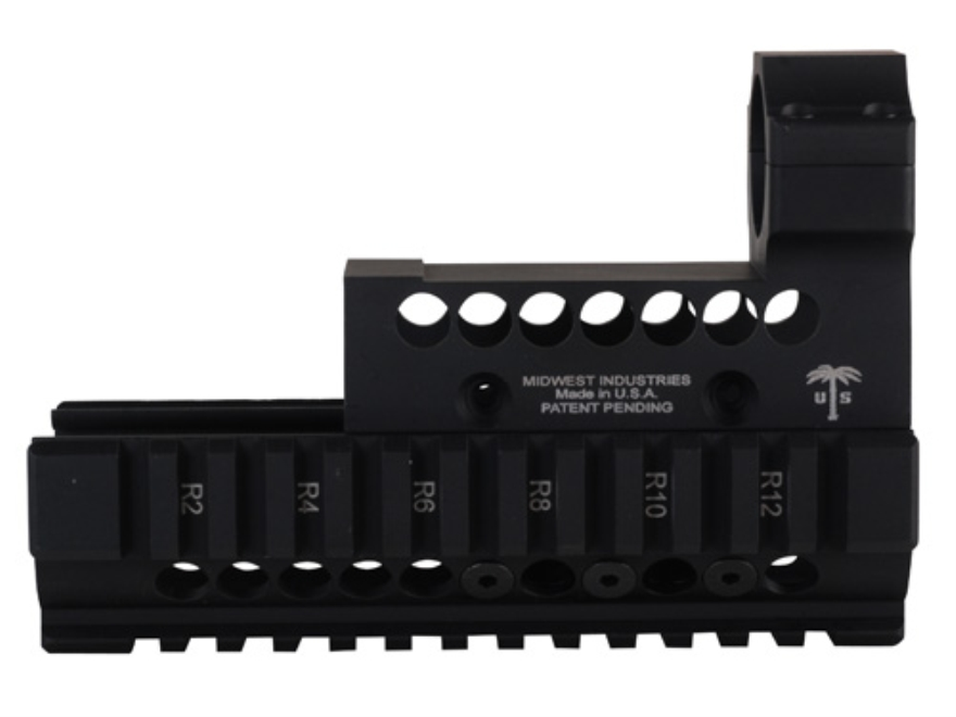 Midwest Industries US Palm 2-Piece Quad Rail Handguard AK-47, AK-74 with ML2 Top Cover ...