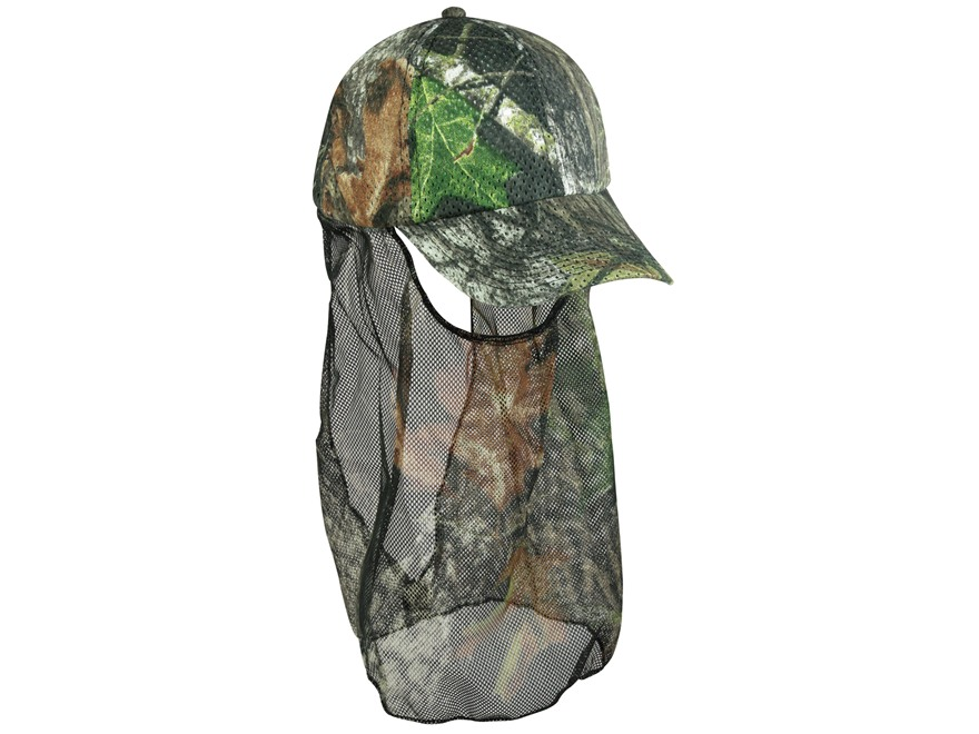 Outdoor Cap Air Mesh Cap and Face Mask Combo Polyester Mossy Oak Break-Up Camo
