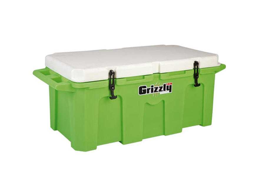Grizzly 150 Qt Cooler with Molded Handles Polyethylene Lime Green