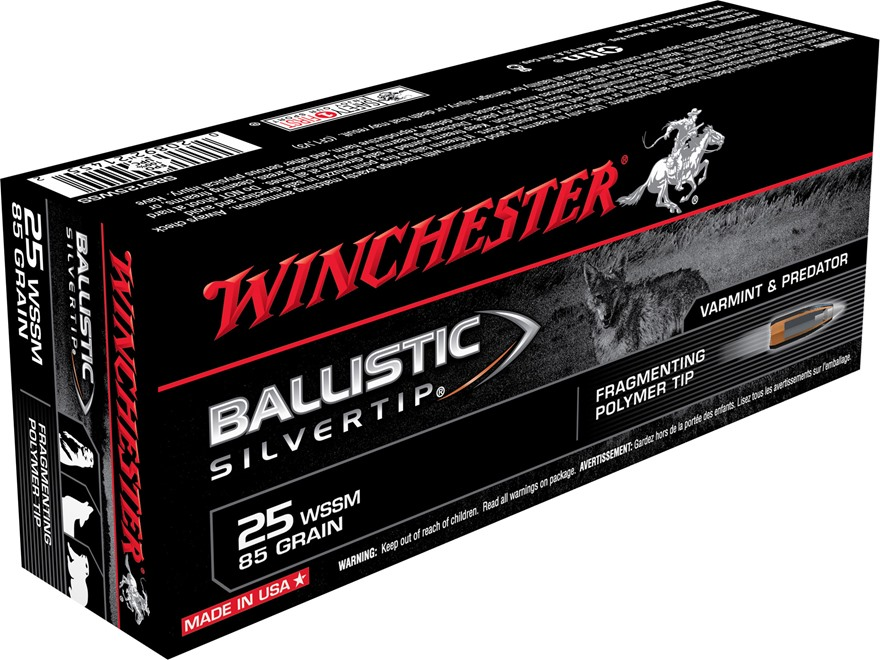 Winchester Ballistic Silvertip Varmint Ammunition 25 Winchester Super Short Magnum (WSS...