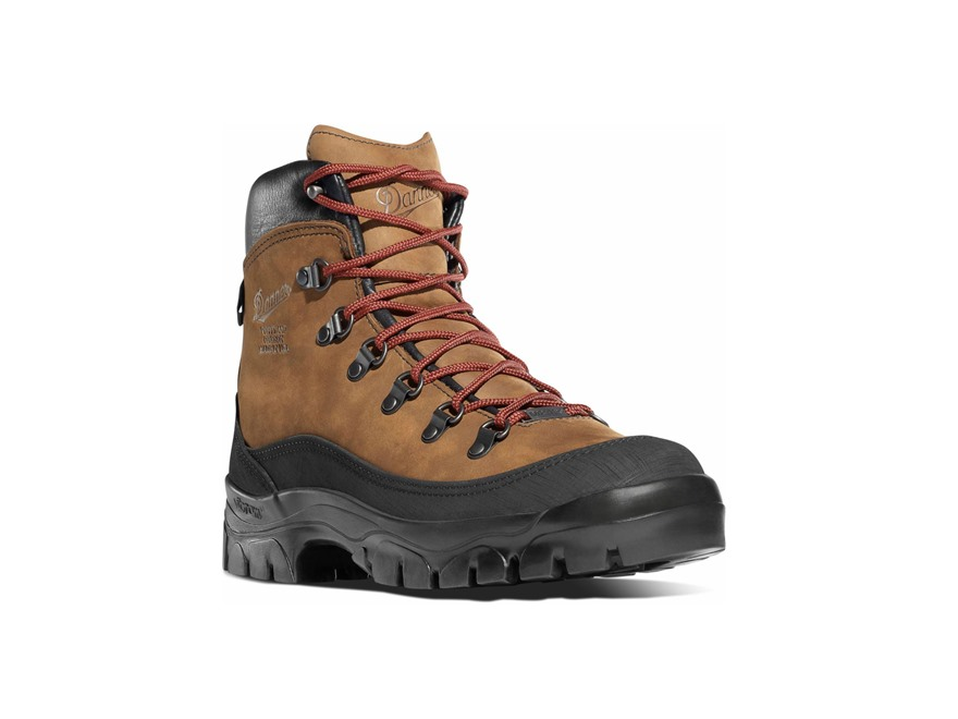 "Danner Crater Rim 6"" Waterproof Uninsulated Hiking Boots Leather and Nylon Brown Men's"