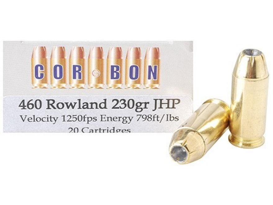 Cor-Bon Hunter Ammunition 460 Rowland 230 Grain Jacketed Hollow Point Box of 20