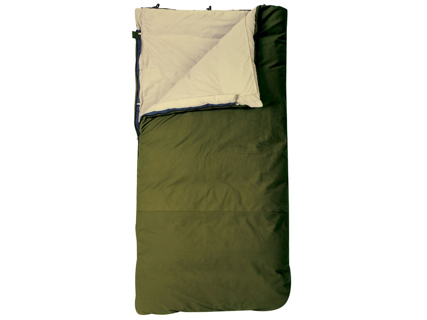 Slumberjack Country Squire 20 Degree Long Sleeping Bag Polyester Olive