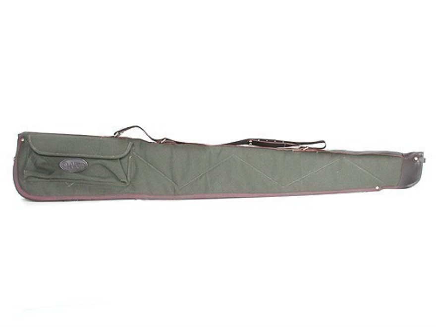 "Allen Shotgun Gun Case 52"" with Pocket and Sling Quilted Canvas Green with Leather Trim"