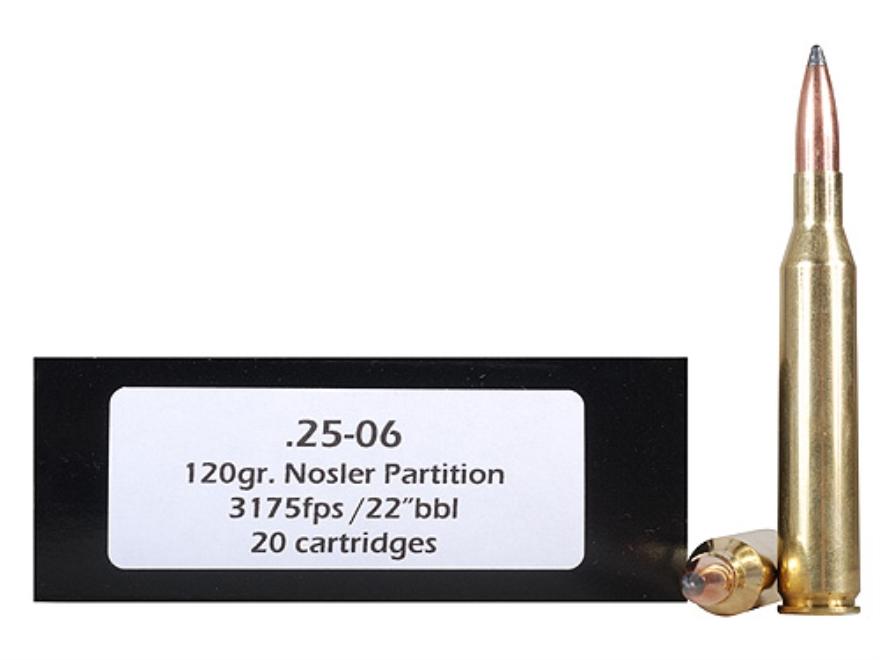 DoubleTap Ammunition 25-06 Remington 120 Grain Nosler Partition Box of 20