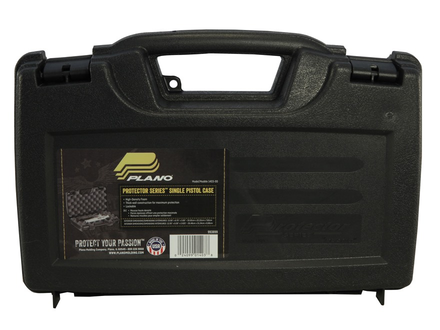 "Plano Protector Single Pistol Case 13"" Black"