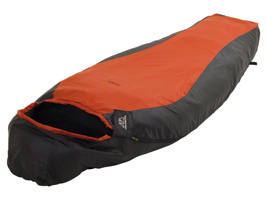 ALPS Mountaineering Razor Lightweight Fleece Mummy Sleeping Bag Liner Polyester Rust an...