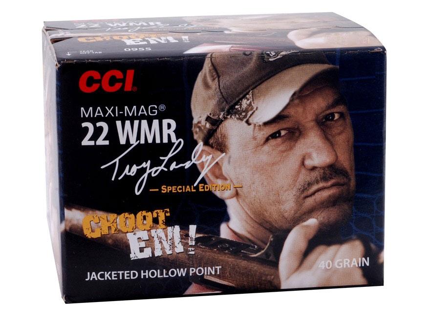 CCI Maxi-Mag Ammunition 22 Winchester Magnum Rimfire (WMR) Troy Landry Special Edition ...