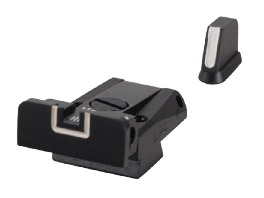 LPA SPR Sight Set CZ 75, 85 with Dovetail Front Sight Steel White Outline