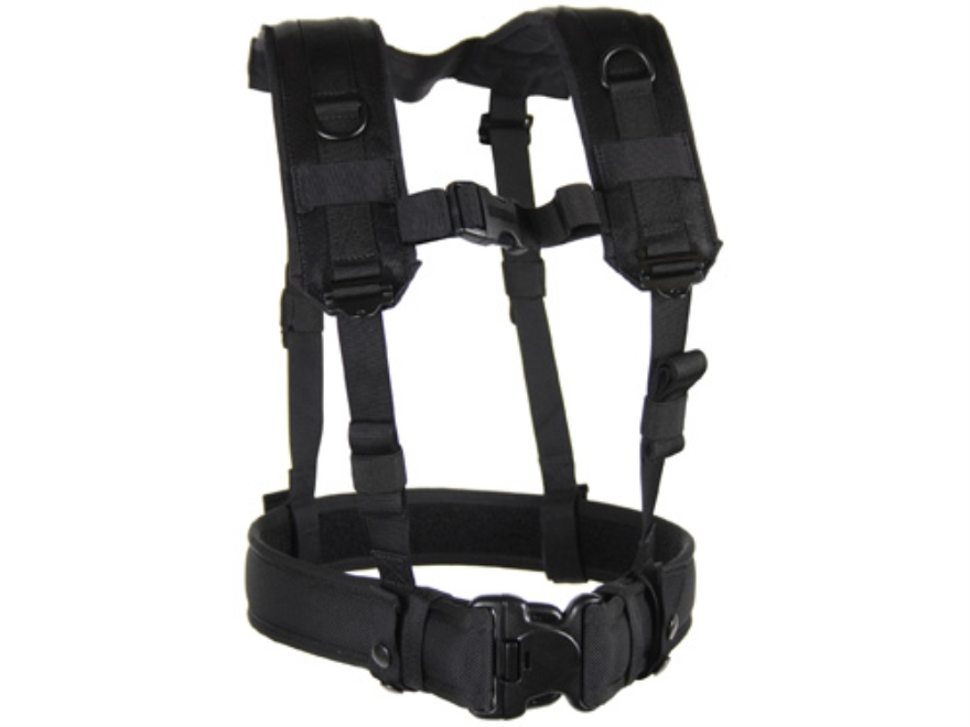 BLACKHAWK! Load Bearing H-Suspenders/Harness Nylon Black