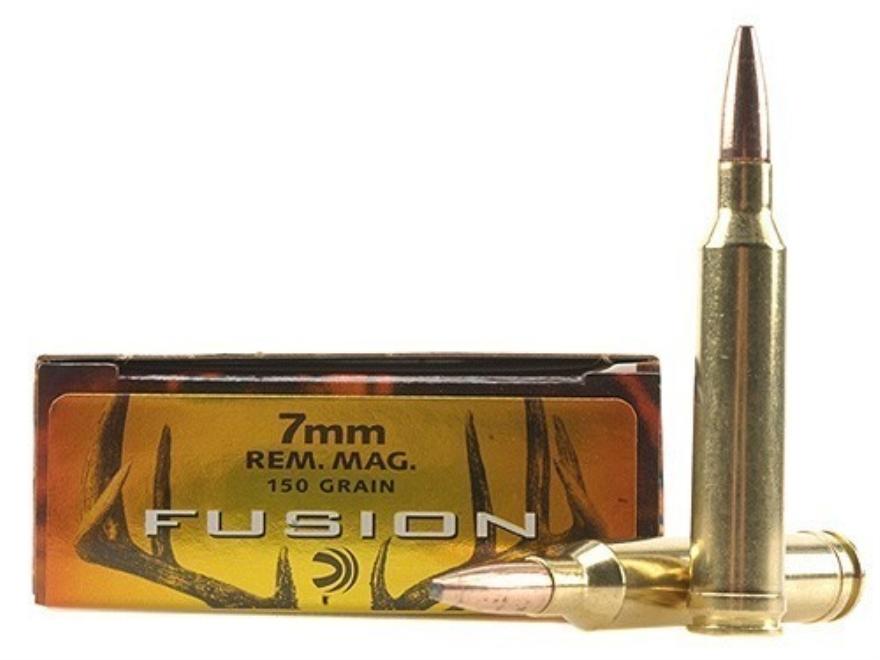 Federal Fusion Ammunition 7mm Remington Magnum 150 Grain Spitzer Boat Tail Box of 20