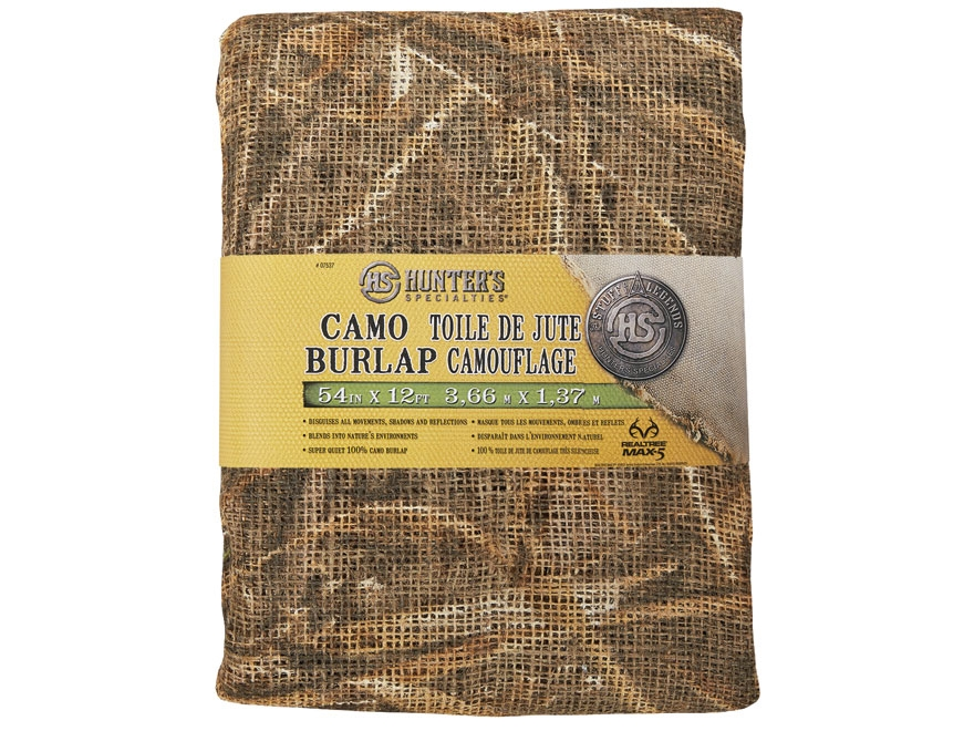 "Hunter's Specialties Blind Material 12' x 54""  Burlap Realtree Max-5 Camo"