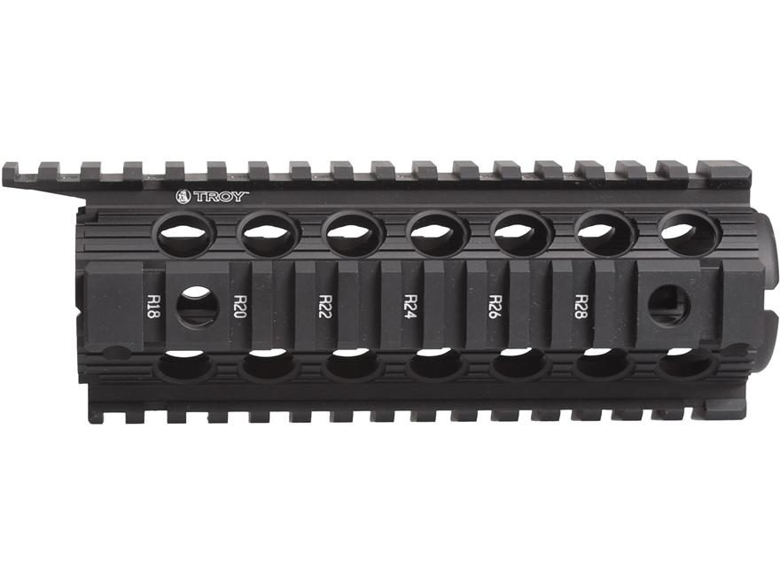 Troy Industries Enhanced Drop-In Battle Rail 2-Piece Quad Rail Handguard AR-15