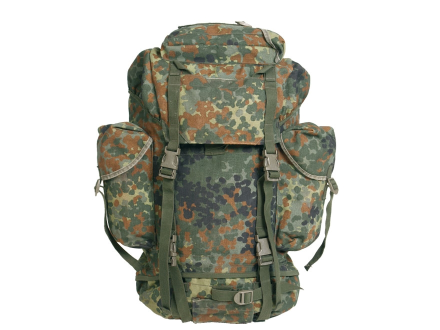 Military Surplus German Combat Rucksack Flecktarn Camo - MPN: 91402200
