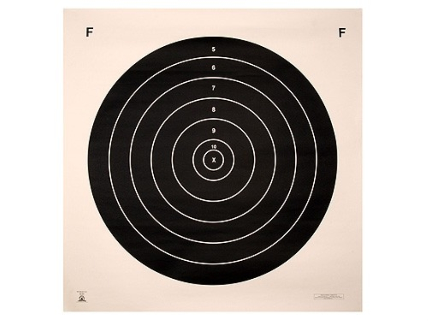 NRA Official F-Class Rifle Targets MR-65 500 Yard Paper Package of 50