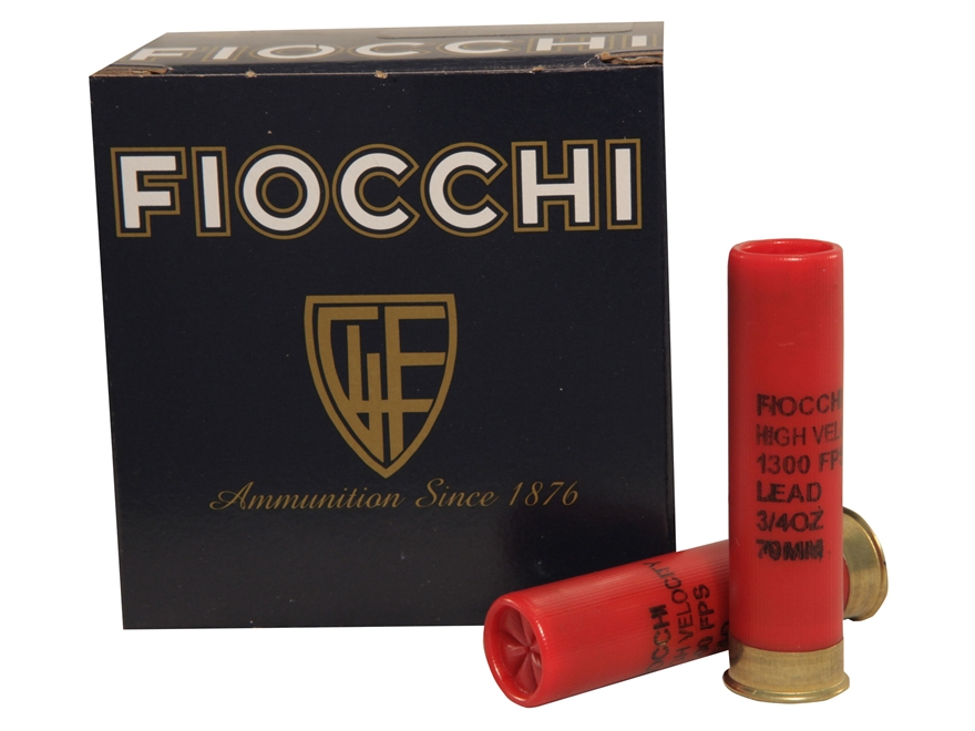 "Fiocchi High Velocity Ammunition 28 Gauge 2 3/4"" 3/4 oz #7.5 Chilled Lead Shot"