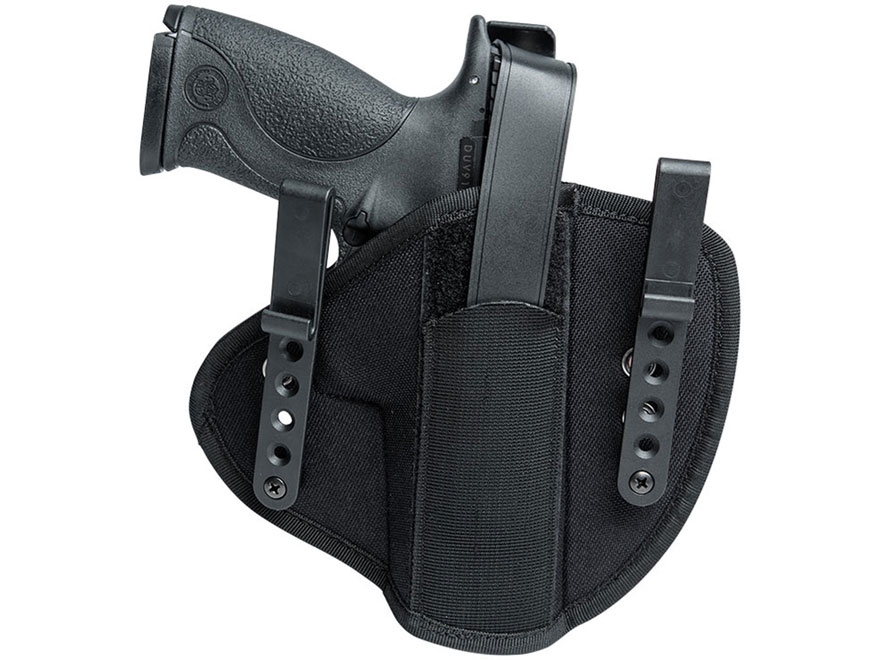 Uncle Mike's IWB Tuckable Holster Ambidextrous Glock 17, 19, S&W M&P, Springfield Armor...