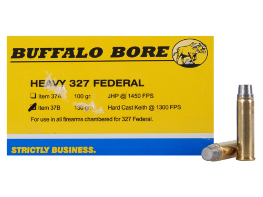 Buffalo Bore Ammunition Outdoorsman 327 Federal Magnum 130 Grain Hard Cast Lead Semi-Wa...