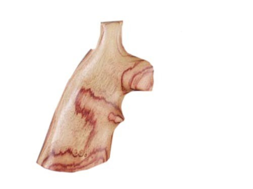 Hogue Fancy Hardwood Grips with Top Finger Groove Colt 38 SF-VI