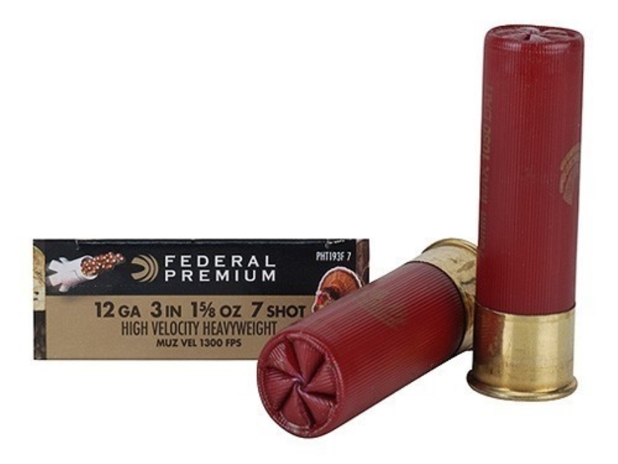 "Federal Premium Mag-Shok High Velocity Turkey Ammunition 12 Gauge 3"" 1-5/8 oz #7 Heavyw..."