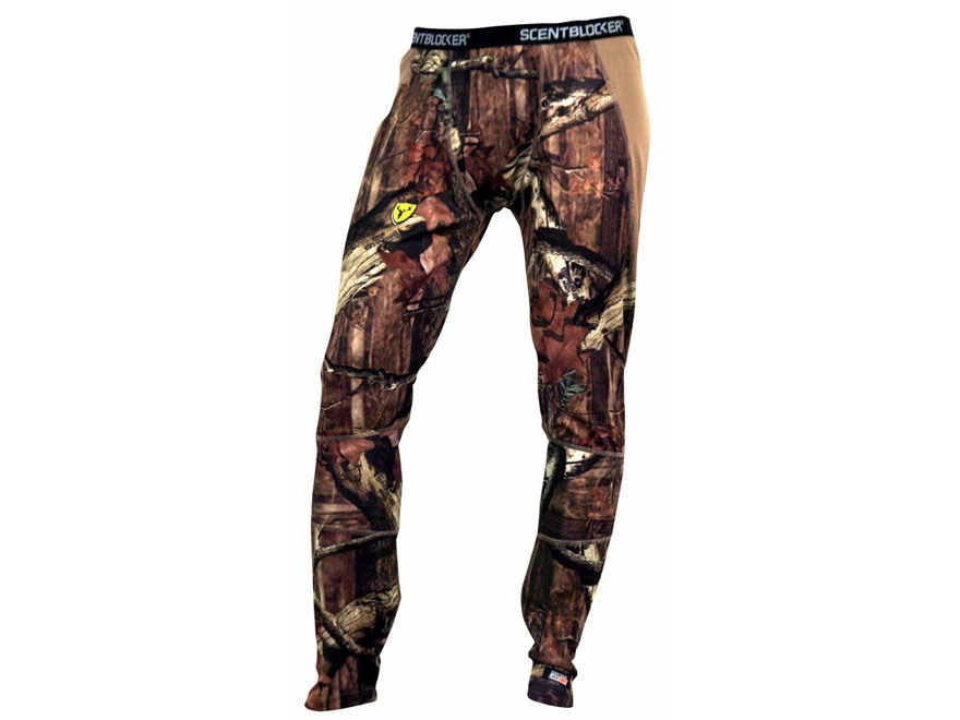 ScentBlocker Men's NTS Base Layer Pants Polyester Mossy Oak Break-Up Infinity Camo Medi...