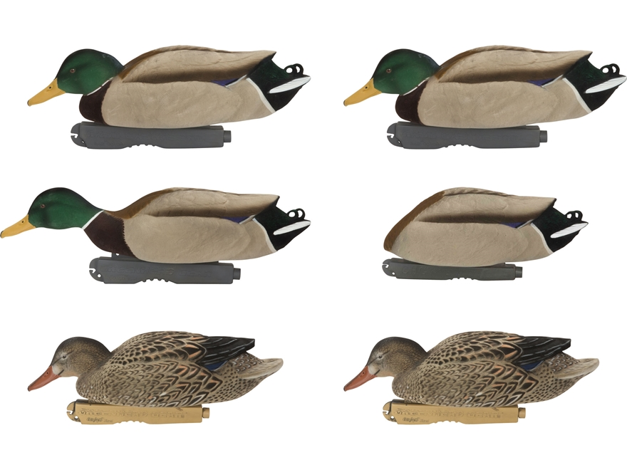 GHG FFD Pro-Grade Mallard Feeder Duck Decoy Pack of 6