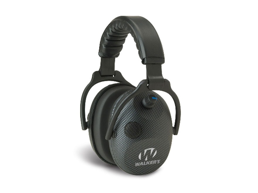 Walker's Alpha Carbon Muffs SSL Electronic Earmuffs (NRR 24 dB) Black Carbon Graphite