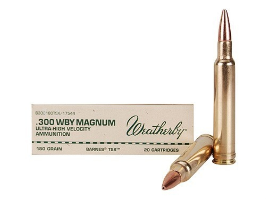 Weatherby Ammunition 300 Weatherby Magnum 180 Grain Barnes Triple-Shock X Bullet Hollow...