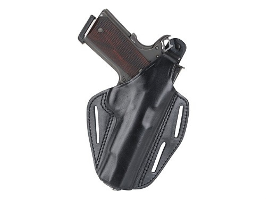 BLACKHAWK! CQC 3 Slot Pancake Belt Holster 1911 Commander Leather Black