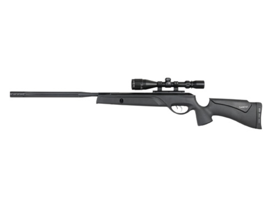 Gamo Bull Whisper Extreme Air Rifle Air Rifle .22 Caliber Black Synthetic Stock Bull Ba...