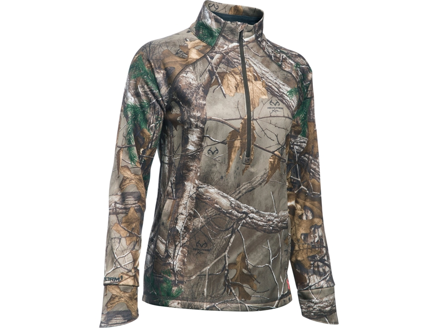 Under Armour Women's UA Armour Fleece Camp 1/2 Zip Jacket Polyester Realtree Xtra Camo