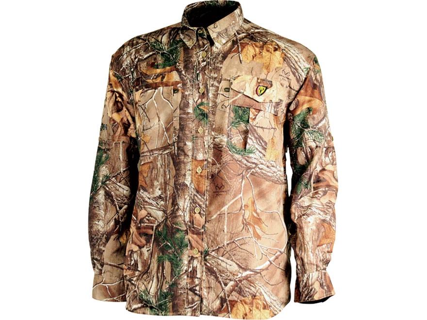 ScentBlocker Men's Featherlite Button-Up Shirt Long Sleeve Polyester