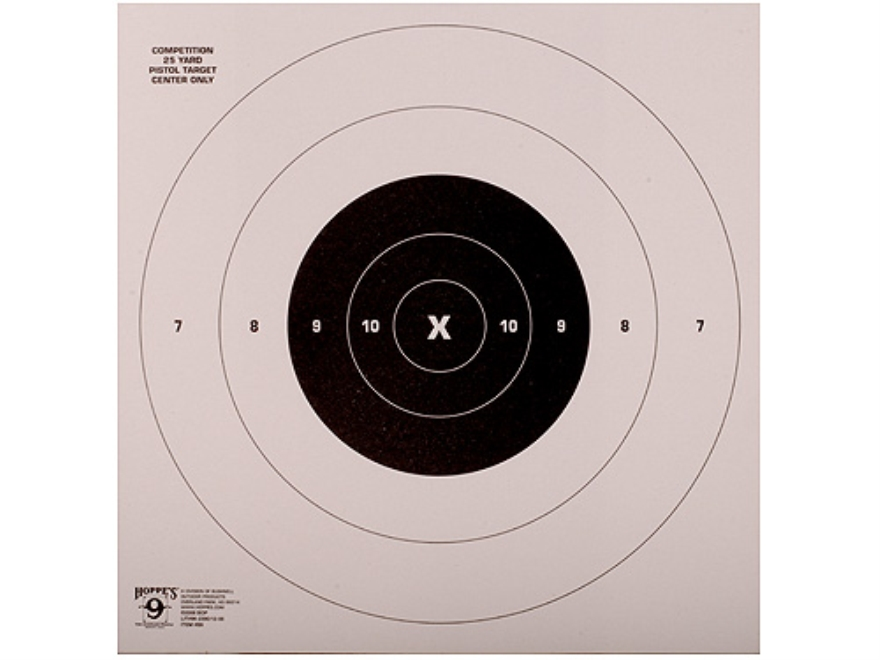 Hoppe's Rapid FireTarget 25 Yard Pistol  Package of 20