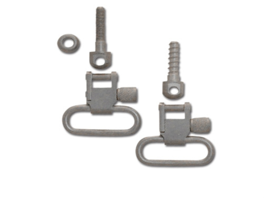 "GrovTec Sling Swivel Studs with 1"" Locking Swivels Set with Machine Screw Forend Satin ..."