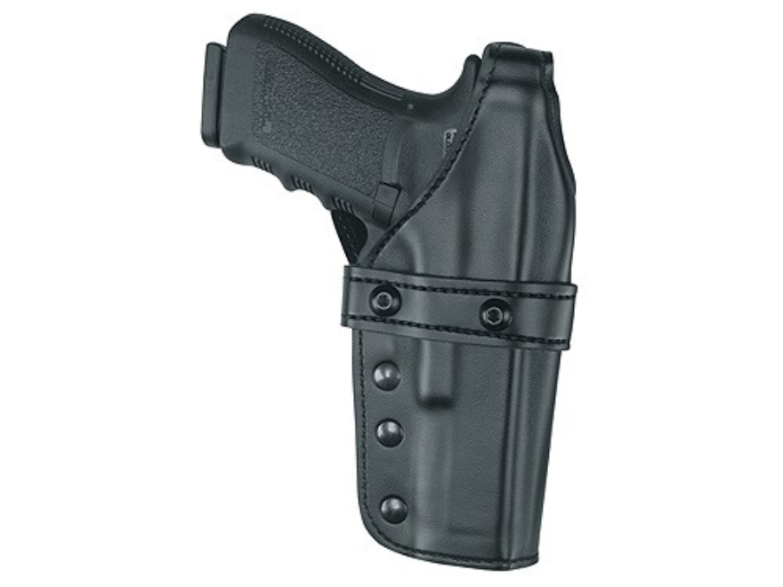 Gould & Goodrich K341 Triple Retention Belt Holster Right Hand Glock 34, 35 Leather Black