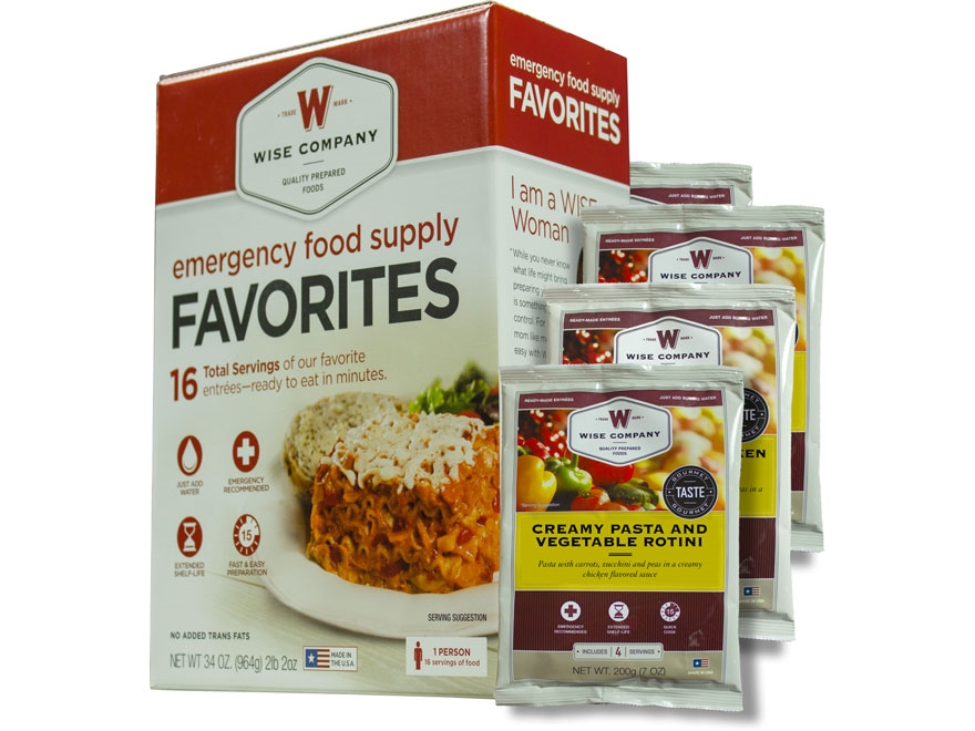 Wise Food Emergency Food Supply Favorites Freeze Dried Food Kit