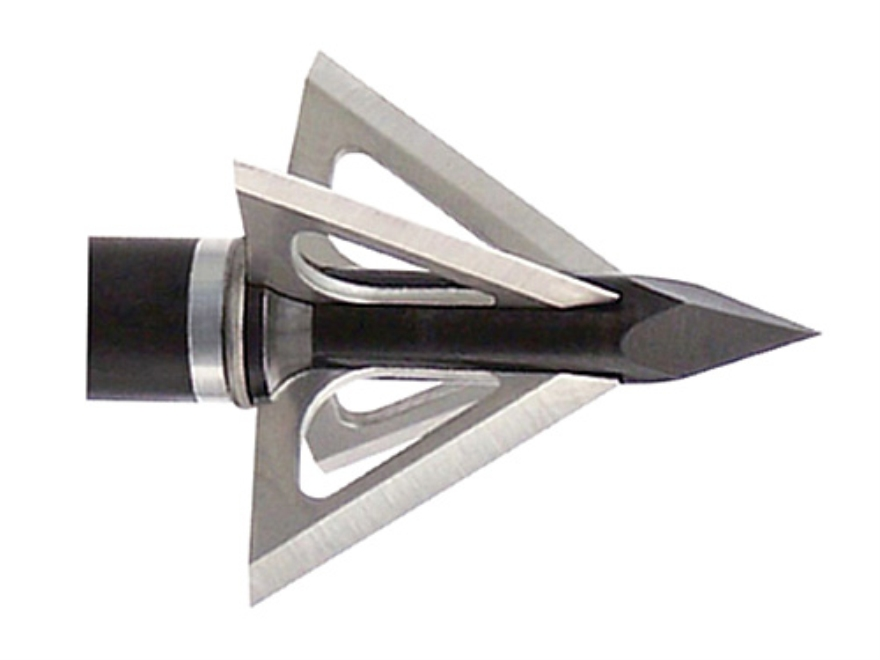 Slick Trick Magnum Fixed Blade Broadhead 100 Grain Stainless Steel Pack of 3