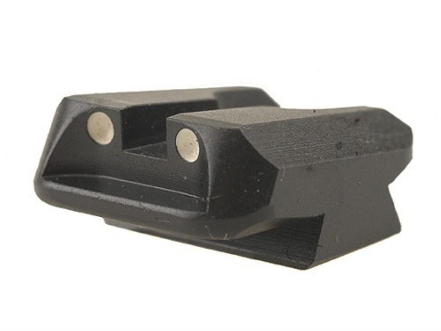 Novak Carry Rear Sight 1911 Standard Rear Cut Steel Black with White Dots